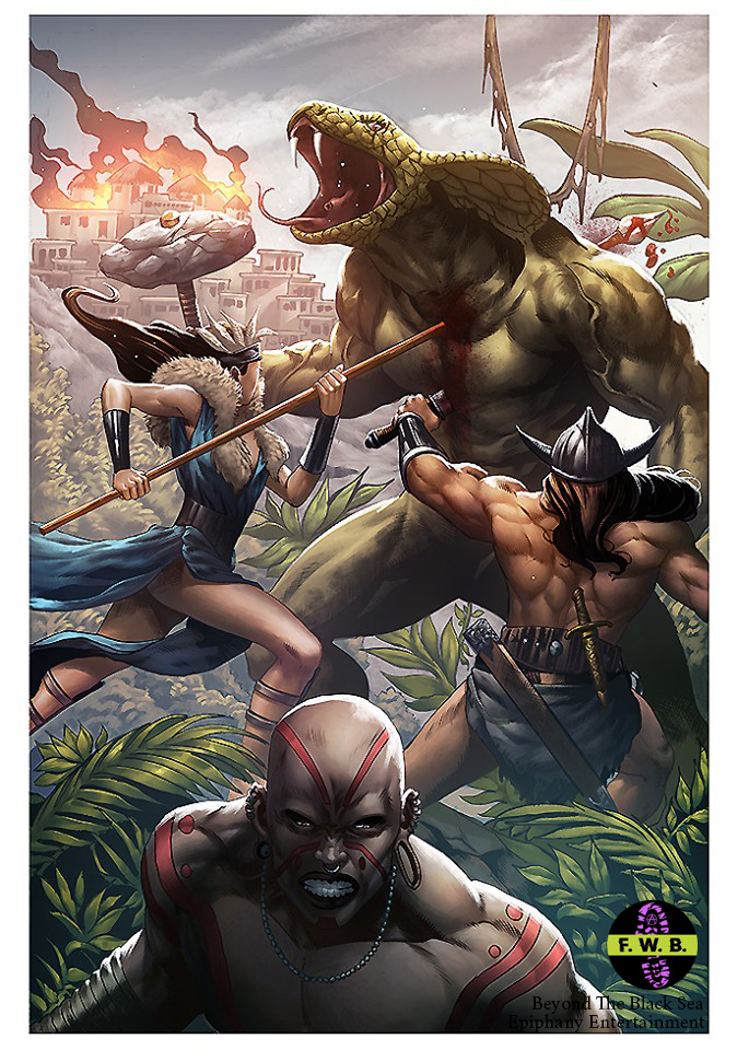 Cover art of the Lost World Saga, an Ophidians Doom